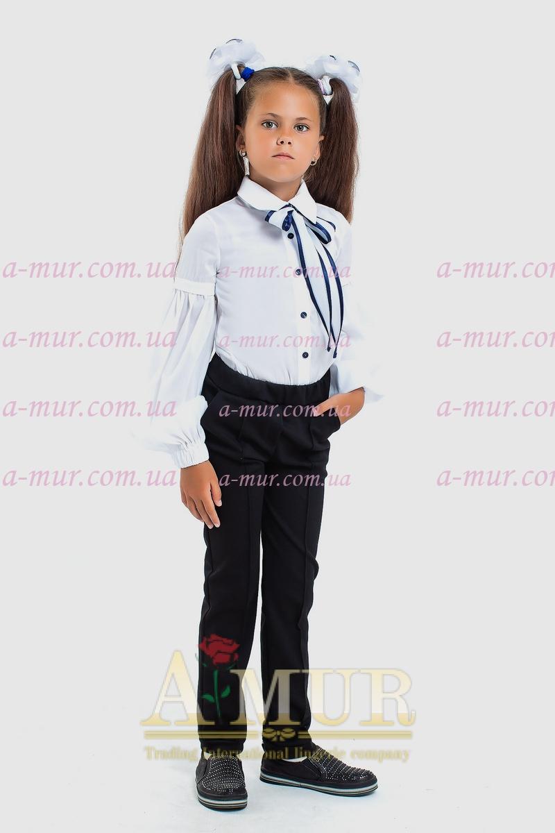 Детская школьная блузка 113165/2 белый